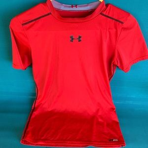 Youth size XL red compression Under Armour shirt.